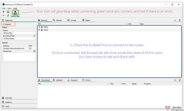 【工具类】DemonSaw:免费跨平台分享工具