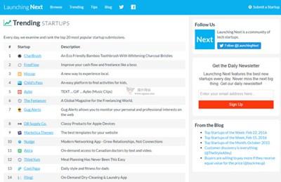【经典网站】LaunchingNext:初创公司目录网