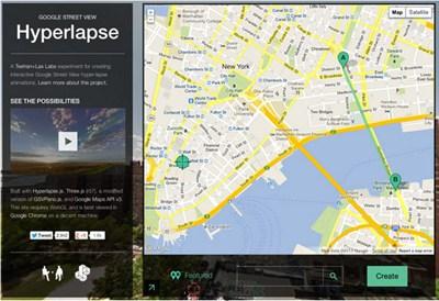 【经典网站】HyperLapse:谷歌街景超平面实验室
