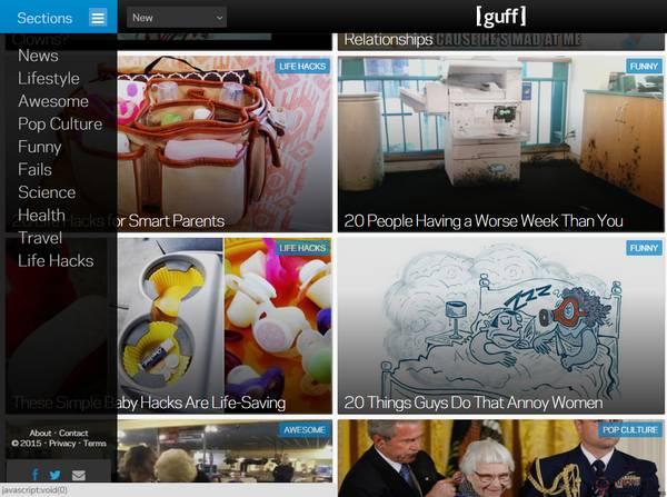 【经典网站】Guff:互联网流行文化之旅