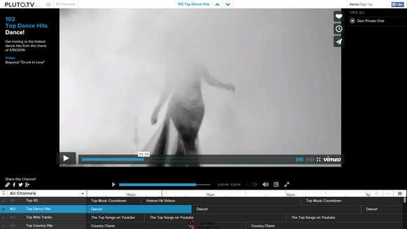 【经典网站】Pluto.tv:基于Youtube流媒体音乐分享网