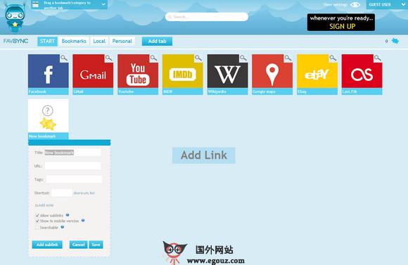 【经典网站】FavSync:通用网络书签管理平台