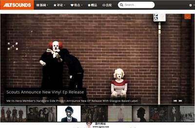 【经典网站】AltSounds:摇滚音乐在线社区