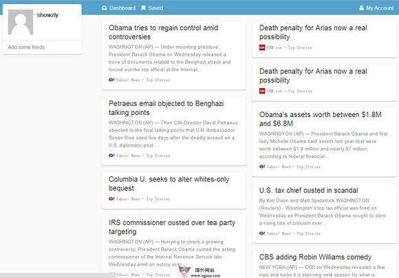 【经典网站】SyndiFeed:RSS新闻订阅管理平台