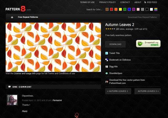 【素材网站】Pattern8:免费纹理素材分享网