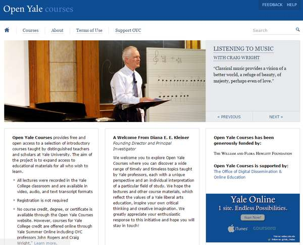 【经典网站】oyc.yale.edu:耶鲁大学公开课