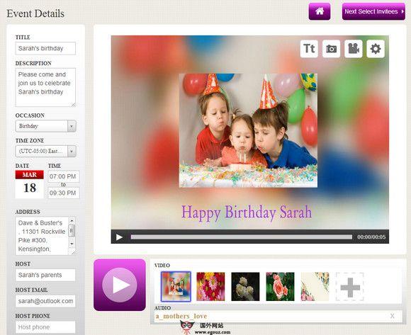 【工具类】InWiter:在线免费视频贺卡制作平台