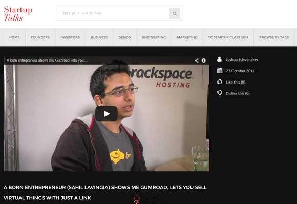 【经典网站】StartupTalks:创业知识访谈视频网