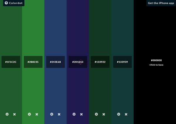 【素材网站】Colordot|随机组合颜色挑选
