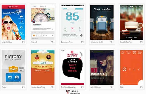 【素材网站】MobileMozaic:苹果手机UI设计欣赏网