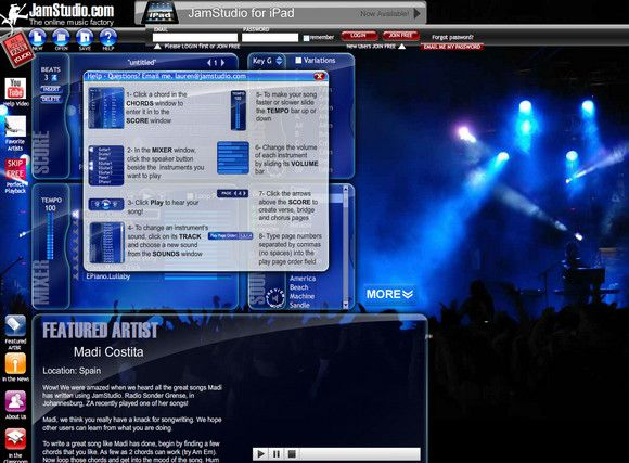 【经典网站】JamStudio:在线吉他伴奏编辑器