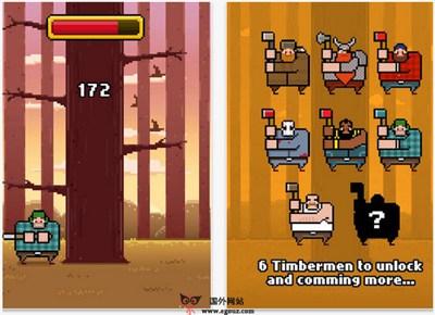 【经典网站】TimberMan:疯狂伐木工休闲游戏