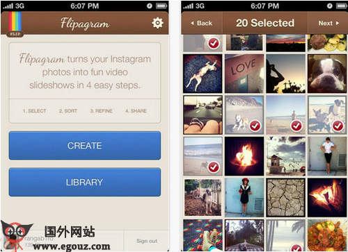 【工具类】Flipagr.am:Instagram图片幻灯片制作应用