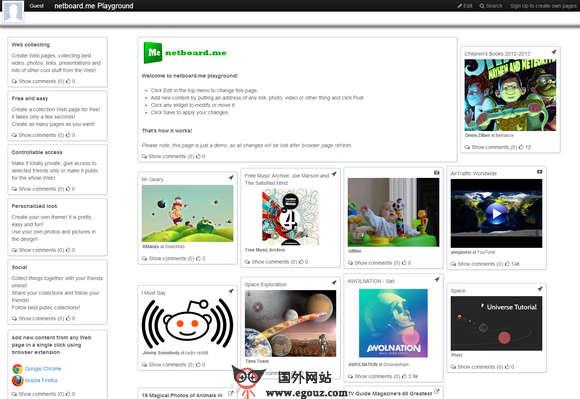 【工具类】Netboard:在线网页内容收集管理工具
