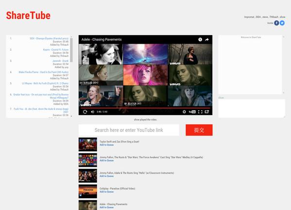 【经典网站】好友同步观看Youtube网站