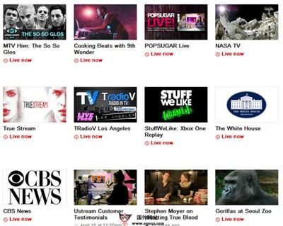 【经典网站】UStream.tv:在线音视频广播平台