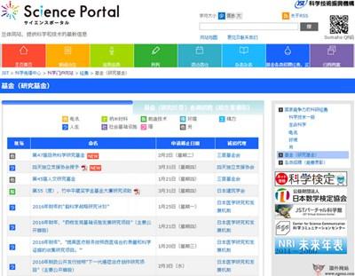 【经典网站】SciencePortal:日本科技门户网