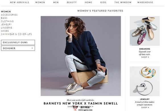 【经典网站】Barneys:巴尼斯时尚品牌官网