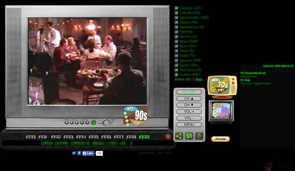 【经典网站】My90stv:国外90年代电视网