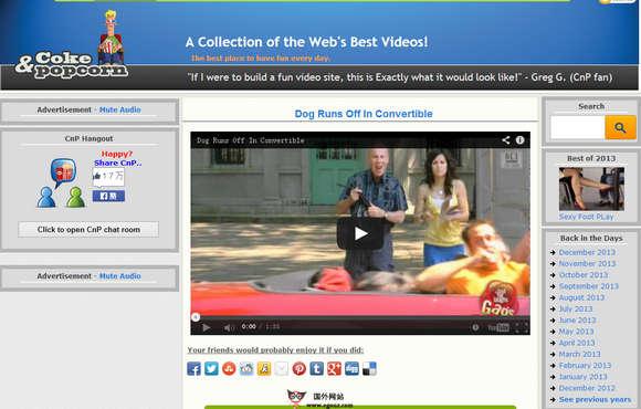 【经典网站】CokeandPoPcorn:在线互联网热门视频资源网
