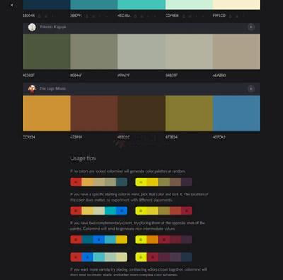 【素材网站】ColorMind|人工智能颜色调色板