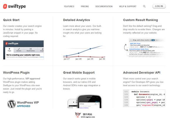 【经典网站】SwifType:网站内部时尚引擎服务平台