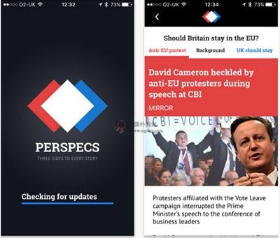 【经典网站】PerspecsNews:不同立场新闻阅读应用