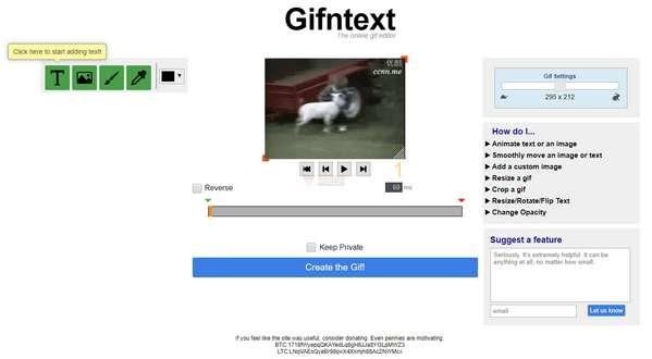 【工具类】Gifntext|在线免费GIF动图编辑器