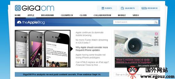 【经典网站】GigaoM:科技博客新闻网