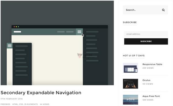 【素材网站】UiDSGN:每日UI设计灵感网