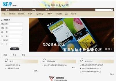 【经典网站】Eping100:易评购物比质网