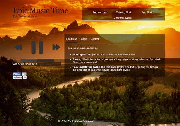 【经典网站】EpicMusicTime:在线史诗背景音乐网