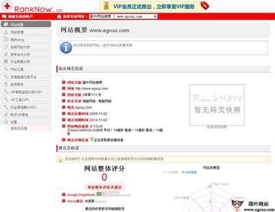 【工具类】RankNow:网站数据评估分析系统平台