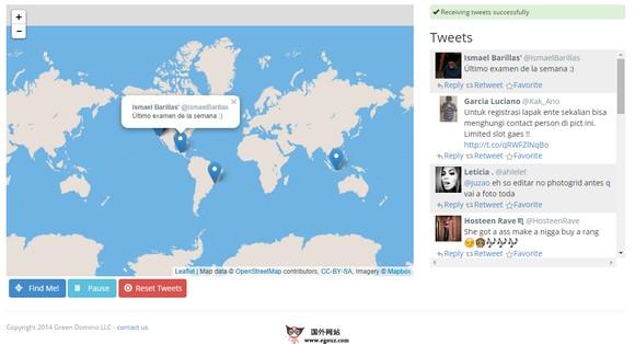 【经典网站】NowTweets:地图式Twitter实时新闻