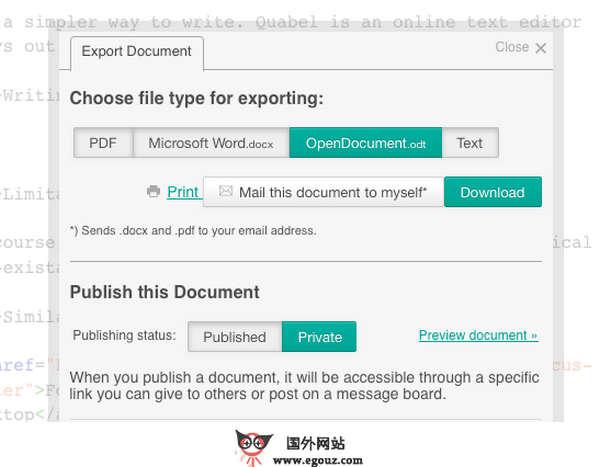 【工具类】Quabel:在线文本编辑器工具
