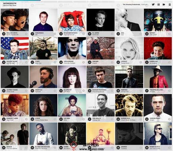 【经典网站】Wonder.fm:基于SoudCould音乐流行排行