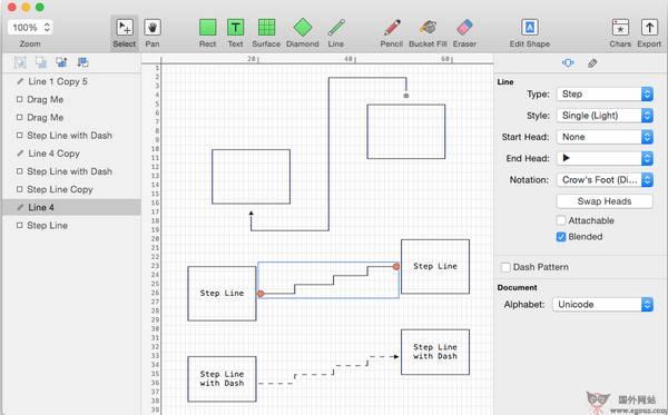 【工具类】MonoDraw:基于ASCII码设计编辑工具