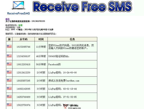 【经典网站】ReceiveFreeSMS:在线免费收短信服务网