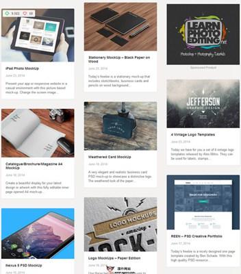 【素材网站】GraphicBurger:免费优质设计素材资源网