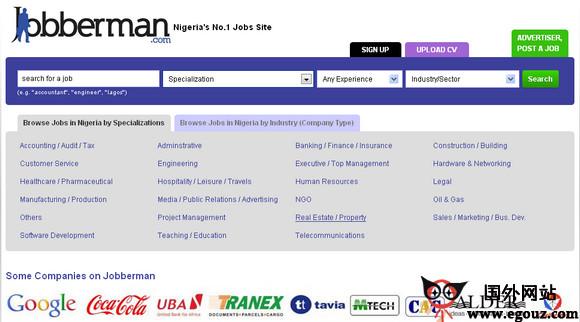 【经典网站】JobberMan:尼日利亚招聘网