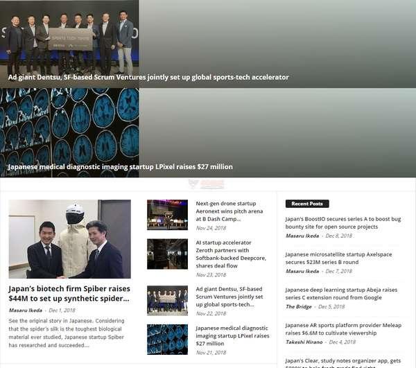 【经典网站】TheBridge|日本创业新闻资讯网