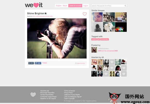 【经典网站】WeheArtit:时尚审美社交网