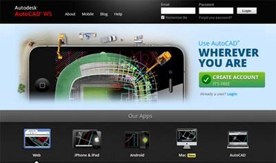 【数据测试】AutoCAD 在线编辑云软件:AutoCAD WS 支持云端以及移动平台!