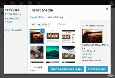 "【Wordpress相关】Instant Featured Image 给 WordPress 新增""插入并设置为特色图片""按钮"