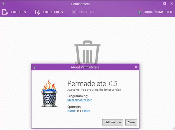 【工具类】Permadelete 免费开源文件粉碎工具