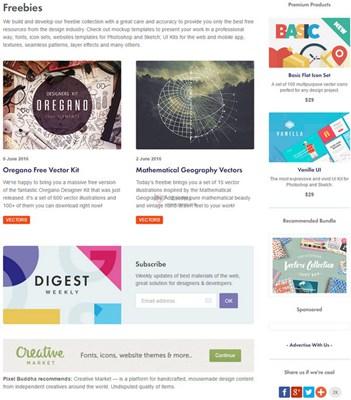 【素材网站】PixelBuddha:免费网络设计资源网
