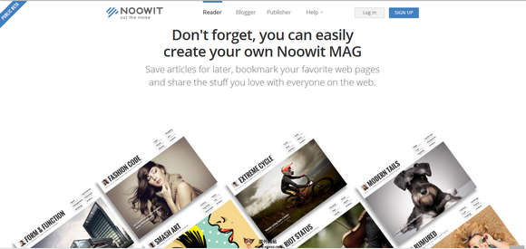 【经典网站】NoowIT:在线个性化杂志阅读平台