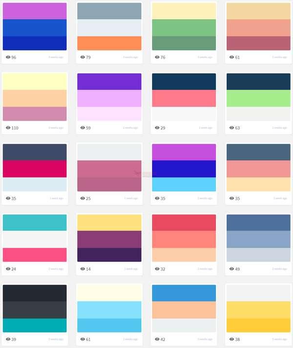 【素材网站】TrendyPalettes|开放式精美调色板