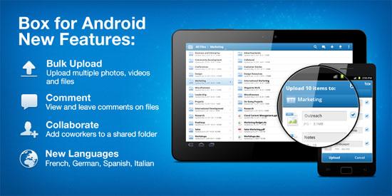 【数据测试】Box为Android用户提供50GB云存储空间