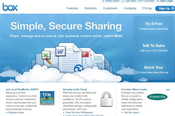 【数据测试】美国云存储平台Box.net获融资5000万美元